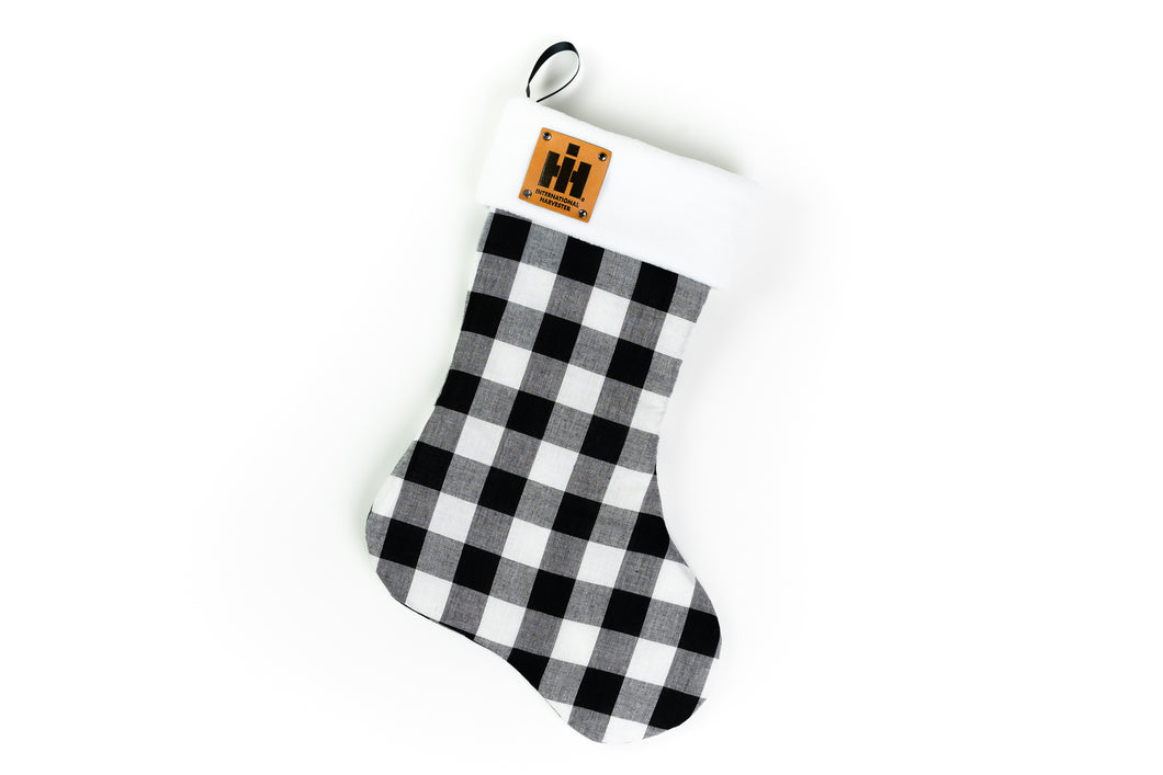 International Harvester Logo Christmas Stocking, Plaid