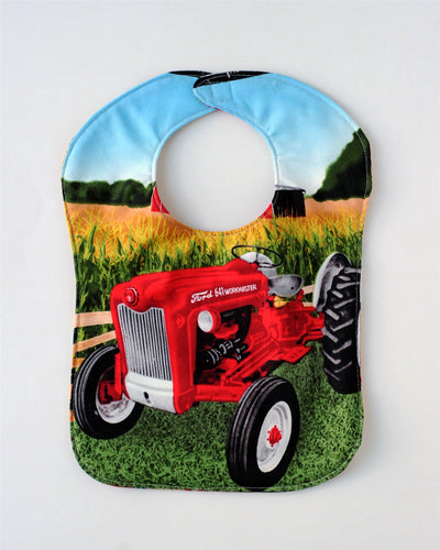 Ford 641 Tractor Baby Bib, Reversible
