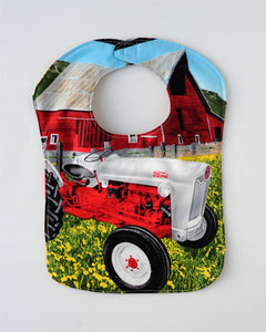 Ford Jubilee/NAA Tractor Baby Bib, Reversible