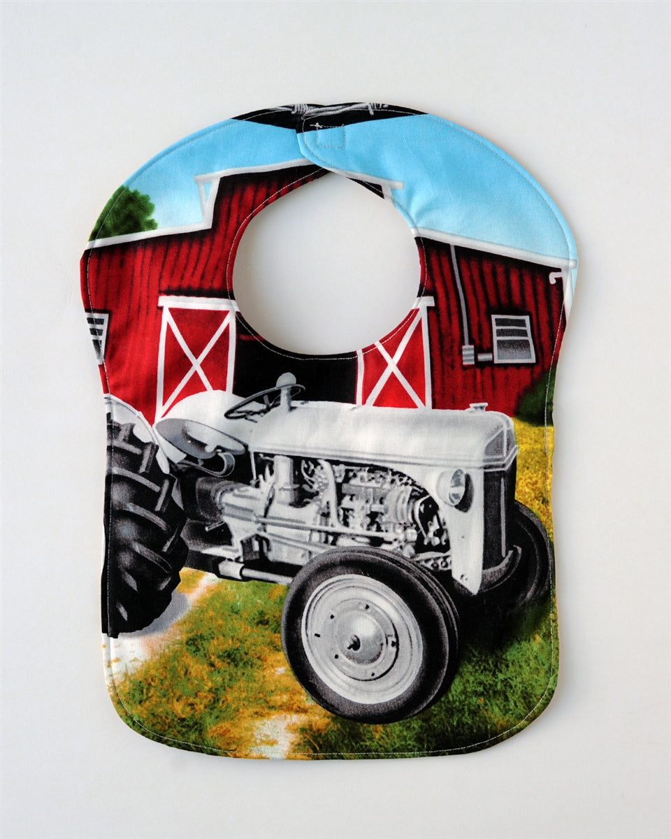 Ford 9N Tractor Baby Bib, Reversible