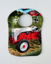 Load image into Gallery viewer, Ford 8N Tractor Baby Bib, Reversible