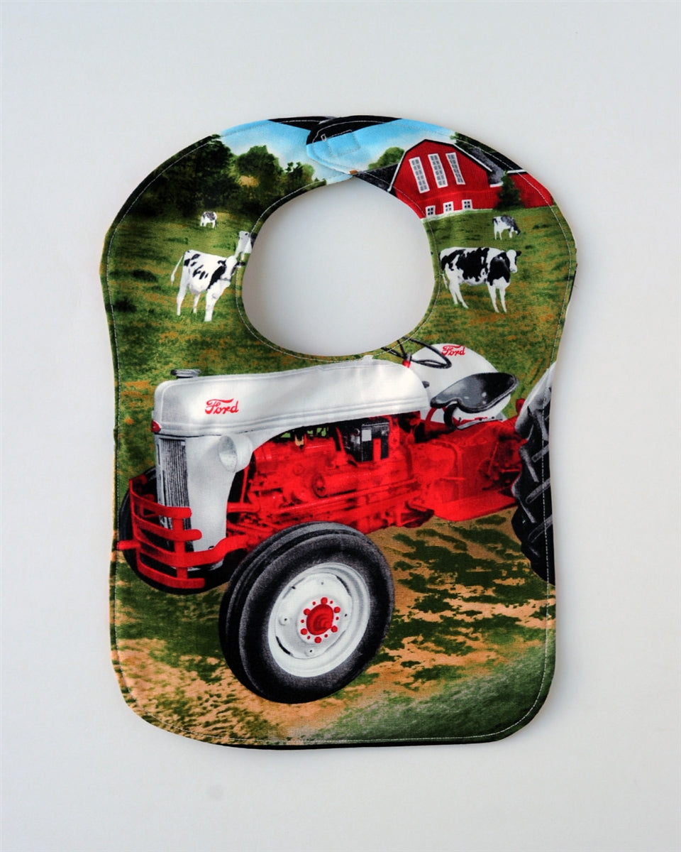 Ford 8N Tractor Baby Bib, Reversible