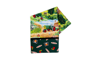 Oliver Tractor Pillow Case, field scene