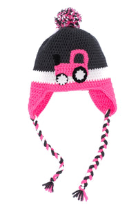 Pink Tractor Kids' Winter Hat