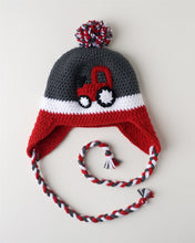 Load image into Gallery viewer, Red Tractor Kids' Winter Hat