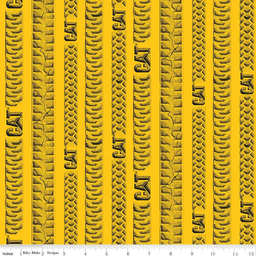CAT Tracks Fabric, Yellow