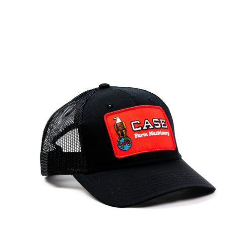 Case Eagle Logo Hat, Black Mesh