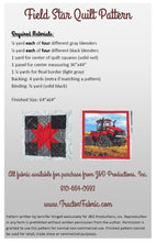 Load image into Gallery viewer, CaseIH Field Star Quilt Pattern