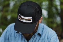 Load image into Gallery viewer, Black Cockshutt Hat with Mesh Back