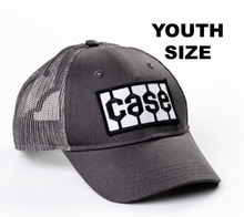 Load image into Gallery viewer, Case Tire Tread Logo Hat, Gray Mesh, Youth Size