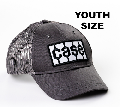 Case Tire Tread Logo Hat, Gray Mesh, Youth Size