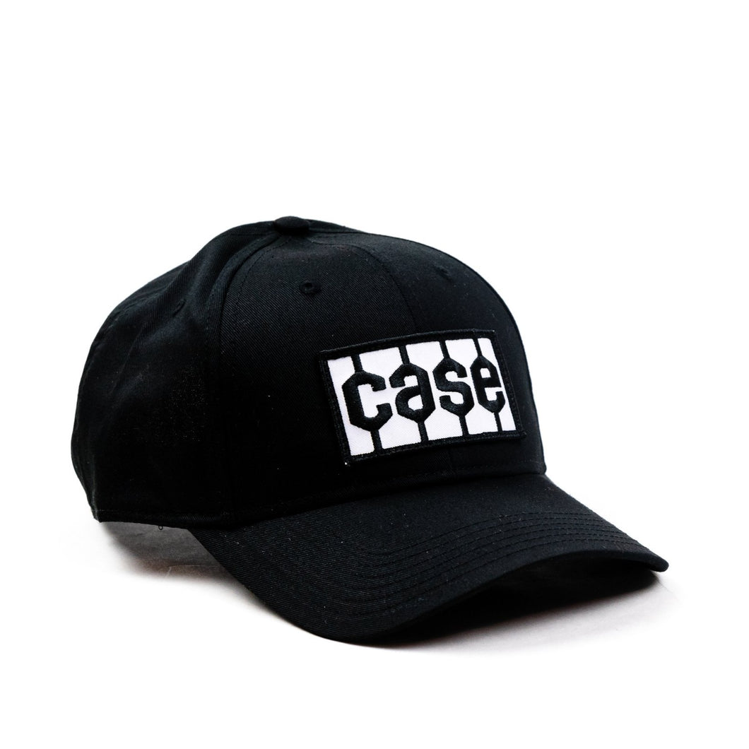 Case Tire Tread Logo Hat, Solid Black
