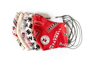 Farmall and IH Logo Face Masks, Elastic: Purchase as a Set or Individually