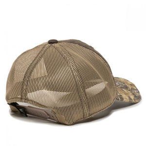 Vintage Oliver Leather Emblem Hat, Distressed Camo Mesh