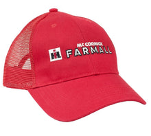 Load image into Gallery viewer, Farmall Logo Hat, red mesh