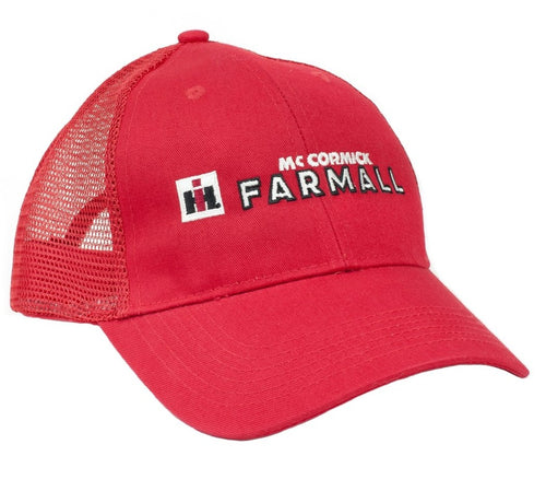 Farmall Logo Hat, red mesh