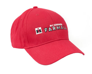 Farmall Logo Hat, solid red