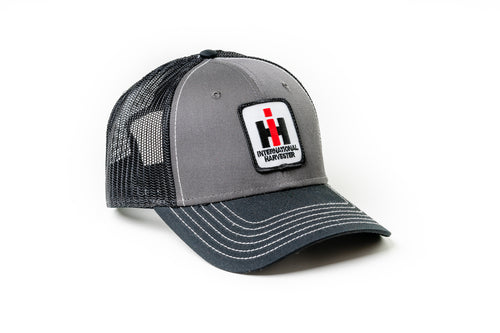 International Harvester Hat, Gray with Black Mesh Back