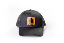 Load image into Gallery viewer, IH Leather Emblem Hat, Gray Mesh, Youth-Size