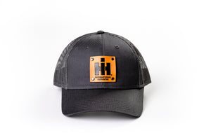 IH Leather Emblem Hat, Gray Mesh, Youth-Size
