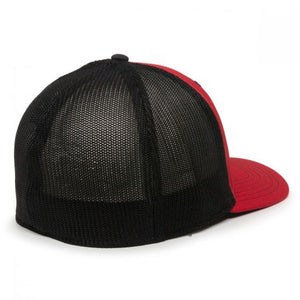 International Harvester Logo Hat, Fitted, Red with Black Mesh
