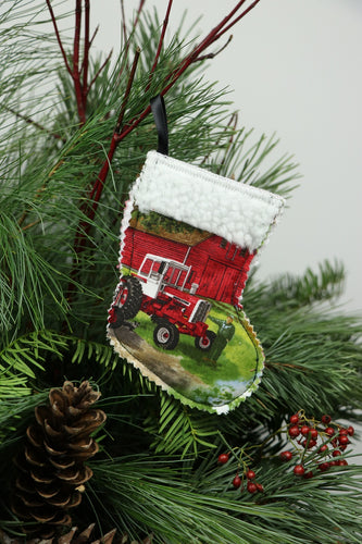 IH 1206 Tractor Ornament Mini Stocking/Gift Card Holder