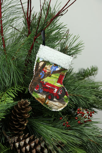 IH 1466 Tractor Ornament Mini Stocking/Gift Card Holder