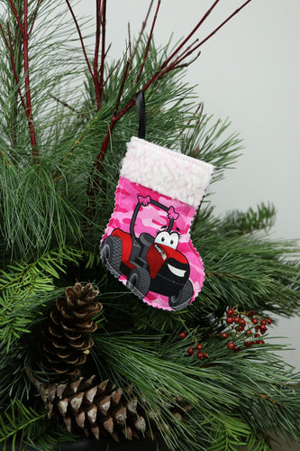Pink CaseIH Tractor Ornament Mini Stocking/Gift Card Holder