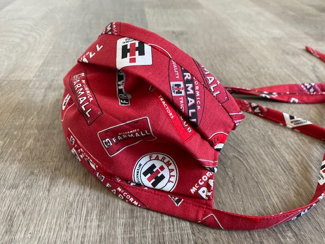 Farmall IH Logo Face Mask, Red