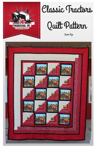 Classic Tractors Quilt Pattern
