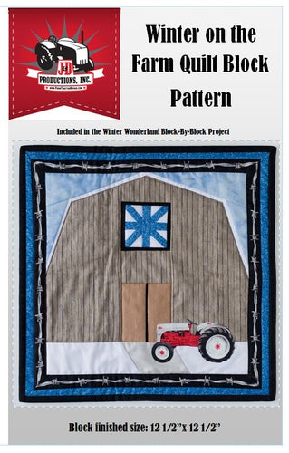 Winter on the Farm Quilt Block Pattern