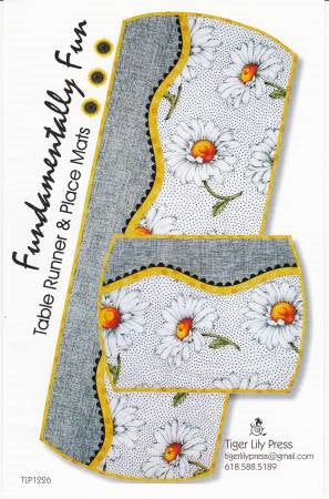 Fundamentally Fun Table Runner and Place Mats Pattern