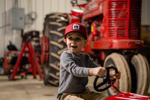 Load image into Gallery viewer, International Harvester Logo Hat, red and black, youth size
