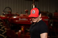 Load image into Gallery viewer, International Harvester Logo Hat, Fitted, Red with Black Mesh