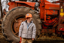 Load image into Gallery viewer, YOUTH -Size Vintage Allis Chalmers Logo Solid Orange Hat