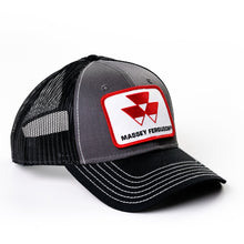 Load image into Gallery viewer, Massey Ferguson Hat, Gray with Black Mesh Back
