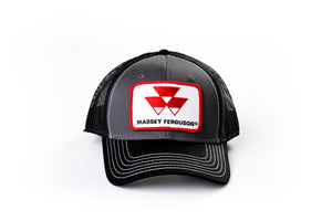 Massey Ferguson Hat, Gray with Black Mesh Back