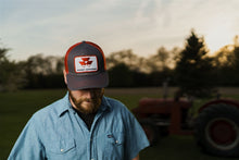 Load image into Gallery viewer, Massey Ferguson Hat, Gray with Red Mesh Back