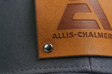Load image into Gallery viewer, Allis Chalmers Logo Hat, Leather Emblem, Gray/White
