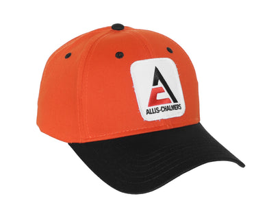 Allis Chalmers Hat, new logo, orange and black