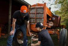 Load image into Gallery viewer, Allis Chalmers Hat, new logo, orange and black