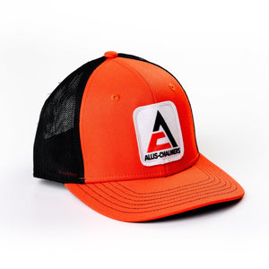 New Allis Chalmers Logo Hat, Fitted, Orange with Black Mesh