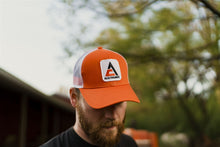 Load image into Gallery viewer, Allis Chalmers Hat, new logo, orange with white mesh