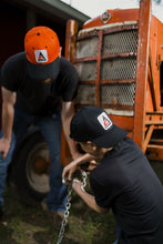 Load image into Gallery viewer, YOUTH -Size New Allis Chalmers Logo Solid Black Hat