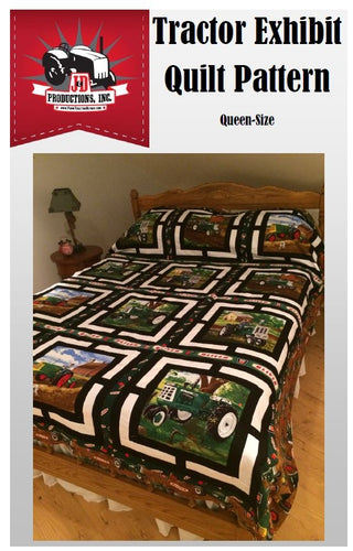 (Oliver) Tractor Exhibit Quilt Pattern, Queen