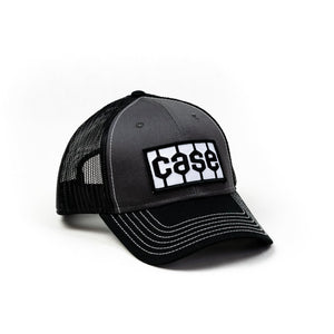 Case Tread Logo Hat, Gray/Black Mesh