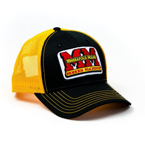 Minneapolis Moline Hat, black with gold mesh