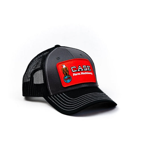 Case Eagle Logo Hat, Gray/Black Mesh