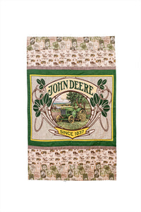 Lap Quilt displaying John Deere Tractors