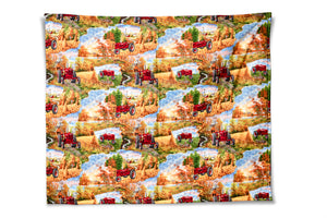 Farmall M Tractor Baby Quilt or Wall Hanging